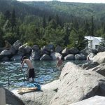 Chena Hot Springs Shuttle Rock Pond Summer Thermal Spring