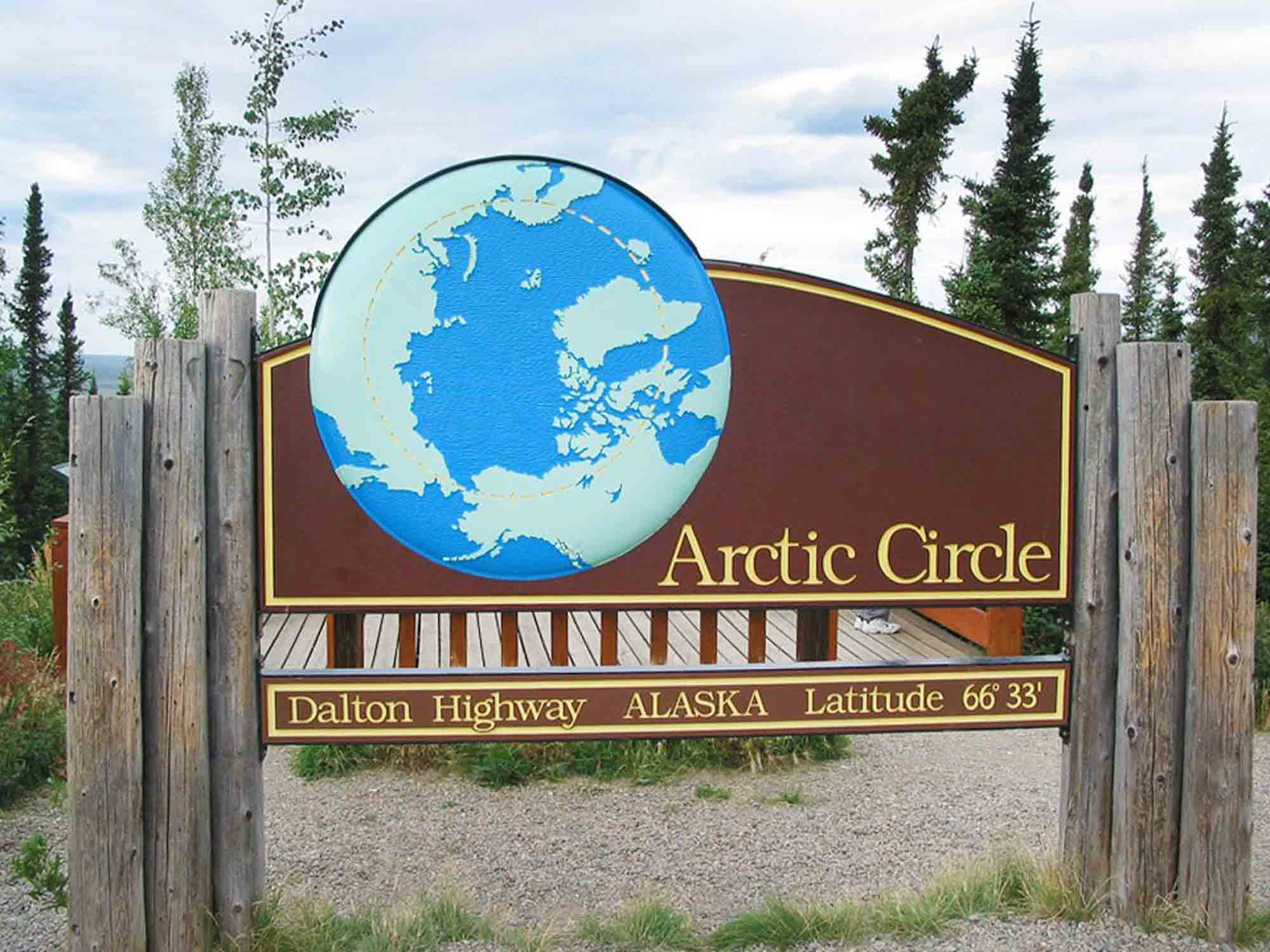 Arctic Circle Tour Arctic Circle Signpost